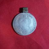 Moneda- Medalion, cu agatatoare 20 kr.1804 litera B Ungaria, Francisc II argint, Europa
