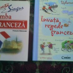 Invata singur franceza -Makowski + Usborne Invata repede franceza - Curs Limba Franceza corint