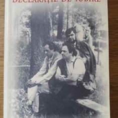 Declaratie De Iubire - Gabriel Liiceanu, 395935 - Filosofie