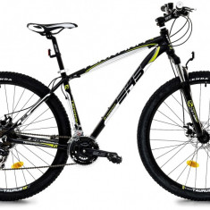 Bicicleta DHS Terrana 2925 (2017) Negru-Verde, 457mm - Mountain Bike DHS, 18 inch