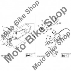 Garnitura toba Aprilia Mojito Custom 50 2T (eng.Piaggio) 04-08 #13, - Garnitura toba Moto