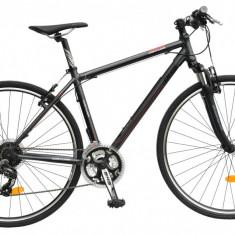 Bicicleta DHS Contura 2865 Culoare Gri/Rosu – 530mm - Bicicleta Cross, 21 inch