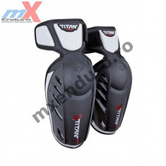 Protectii cot Fox Titan Race, negru/argintiu - Protectii moto