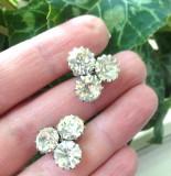 Cercei eleganti placati cu aur 18k si cristale swarovski