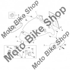 Carena DX Aprilia Mojito Custom 50 2T (eng.Aprilia) 99-04 #8, - Carene moto