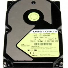 HDD Imprimanta 3.5 Inch PATA 1058.5MB 2051 CYL, 16 Heads, 63 Sec/T NEC D5S1050S 134-507066-304