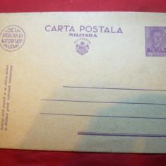 Carte Postala Militara cu 3 lei Mihai I marca fixa , necirculata
