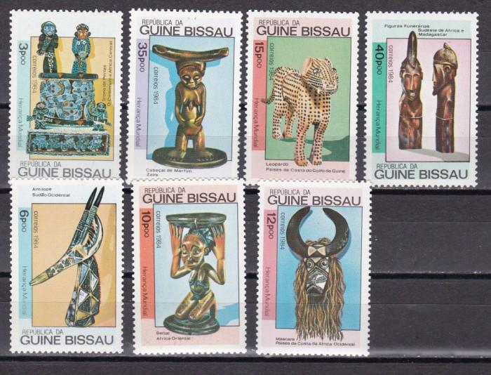 Guineea Bissau  1984  arta  populara  MI 786-792   MNH  w42