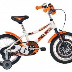 Bicicleta Copii DHS Speed 1601 (2016) Culoare Alb, 9 inch