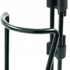 Suport Bidon Apa Basic Aluminiu Negru - Lanturi antiderapante