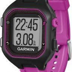 Smartwatch Garmin Forerunner 25 HRM cu bandă, negru/mov