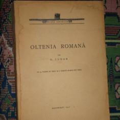 Oltenia romana an 1942/386pag/54 ilustratii/1 harta- D. Tudor