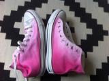 Tenisi Converse All Star bascheti textil 27 cm rose roz cu alb nr 42 vietnam