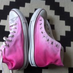Tenisi Converse All Star bascheti textil unisex rose roz cu alb nr 42 vietnam - Tenisi barbati