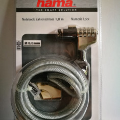 HAMA - cablu securitate laptop - antifurt