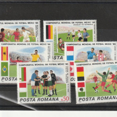 Romania  CM de fotbal 86 Mexic   ,nr lista 1157.