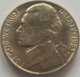 Moneda 5 Centi - SUA, anul 1983 P *cod 4779, America de Nord