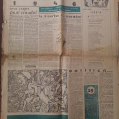 ziarul lumea 1946 ( nr. special de pasti)-director si articol george calinescu