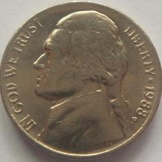 Moneda 5 Centi - SUA, anul 1988 P *cod 4780, America de Nord
