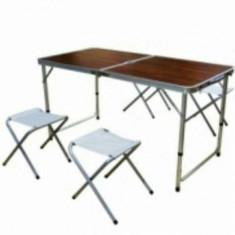 Masa Pliabila camping 120×60 cm Fara scaune