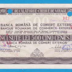 (6) CEC DE CALATORIE (CHEQUE DE VOYAGE) - UNGARIA - 500 LEI, ANUL 1981 - Cambie si Cec
