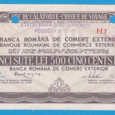 (3) CEC DE CALATORIE (CHEQUE DE VOYAGE) - CEHOSLOVACIA - 500 LEI, ANUL 1981 - Cambie si Cec