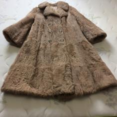 Haina lunga blana naturala - haina de blana