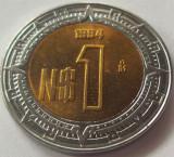 Moneda bimetal 1 Nuevo Peso - MEXIC, anul 1994 *cod 4850 UNC, America Centrala si de Sud