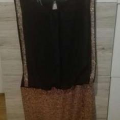 Rochie de seara scurta cu paiete, Culoare: Negru