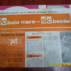 Program FC Baia Mare - SC Bacau - Program meci