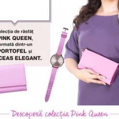Geanta plic + ceas Pink Queen AVON - Geanta Dama, Culoare: Roz, Marime: Medie
