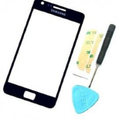 Geam Sticla Glass Samsung S2 i9100 i9105 albastru