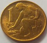 Moneda 1 Coroana - CEHOSLOVACIA, anul 1980 *cod 4852 a.UNC, Europa