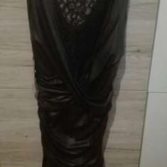Rochie de seara scurta, Marime: 37, Culoare: Negru, Dantela