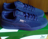 Adidasi Puma Suede S Modern 44EU -piele naturala, 44, Albastru, Piele intoarsa