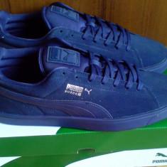 1+1/2 sau 2+1 Gratis - Adidasi Puma Suede S Modern 44EU -piele naturala - Adidasi barbati Puma, Culoare: Albastru, Piele intoarsa