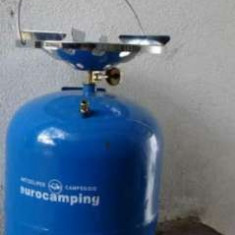 Butelie camping/voiaj 8 litri GPL - Aragaz/Arzator camping