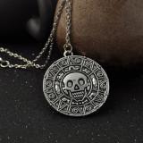 Pandantiv+lant PIRATII DIN CARAIBE JACK SPARROW Aztec medalion pirati