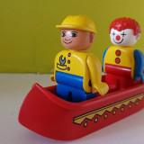 3 jucarii Lego Duplo - o barca, un clovn si un omulet muncitor