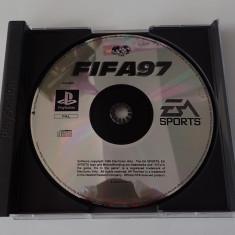 CD DVD Joc original Sony Playstation One PS1 Fotbal FIFA 97 PAL EA Sports - Joc PS1, Sporturi, Multiplayer, Toate varstele