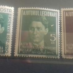 Romania 1941 set timbre ajutor legionare Codreanu mnh - Timbre Romania, An: 1959, Transporturi, Nestampilat