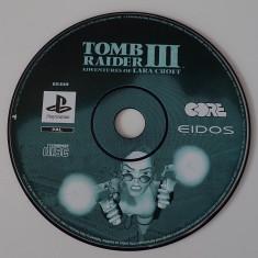 CD DVD Joc original Sony Playstation One PS1 Tomb Raider III Lara Croft PAL - Joc PS1, Actiune, Single player, Toate varstele
