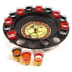 Joc Ruleta 16 pahare pentru shoturi - Cadou