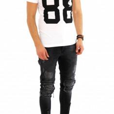 Tricou  - tricou barbati - tricou slim fit - tricou fashion - 8071 P3-2, XL, Maneca scurta, Din imagine