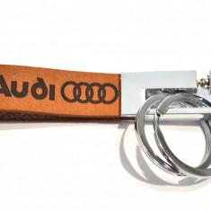 Breloc piele naturala AUDI - Breloc Auto