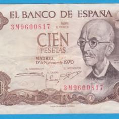 (1) BANCNOTA SPANIA - 100 PESETAS 1970 (17 NOIEMBRIE 1970) - MANUEL DE FALLA