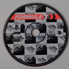 CD DVD Joc original Sony Playstation One PS1 Auto Formula 1 PAL impecabil - Joc PS1, Simulatoare, Multiplayer, Toate varstele