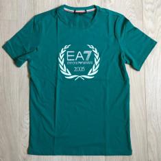Tricou Armani original - Tricou barbati E.M.A., Marime: M/L, Culoare: Verde
