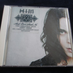 HIM - And Love Said No.The Greatest Hits 1997-2004 _ cd_RCA(EU) _ cu poster - Muzica Rock rca records