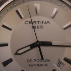 CEAS DE MANA BARBATESC AUTOMATIC CERTINA DS PODIUM - Ceas barbatesc Certina, Mecanic-Automatic, Piele, Analog